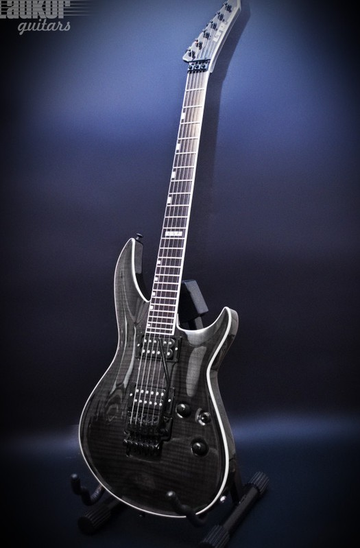 ESP LTD Elite Horizon-III FR Flame Maple Top See-Thru Black
