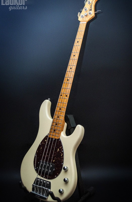 Music Man Sterling USA White Bass Birdseye Maple Neck