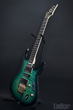 1996 Ibanez S540 Custom Made S Series Flame Maple Trans Teal MIJ Japan