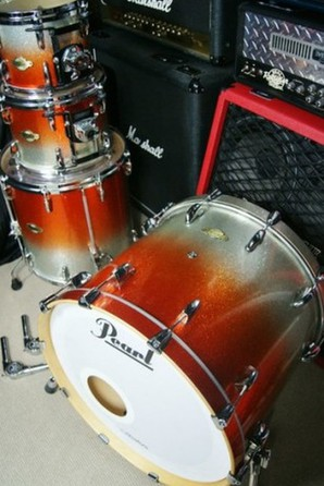 Pearl Masters MCX Orange Sparkle Fade