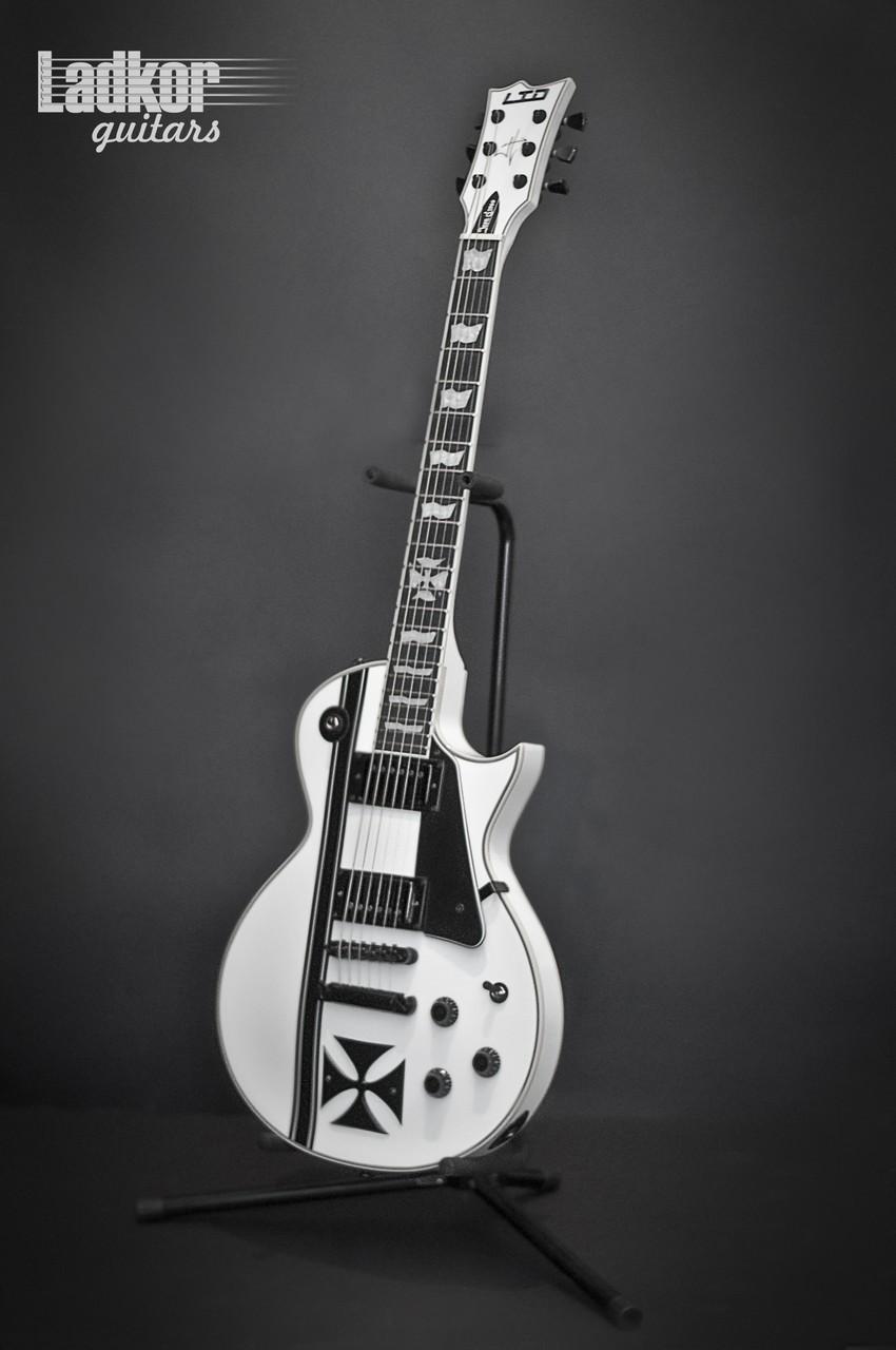 ESP LTD Iron Cross James Hetfield Signature Metallica SW Snow White