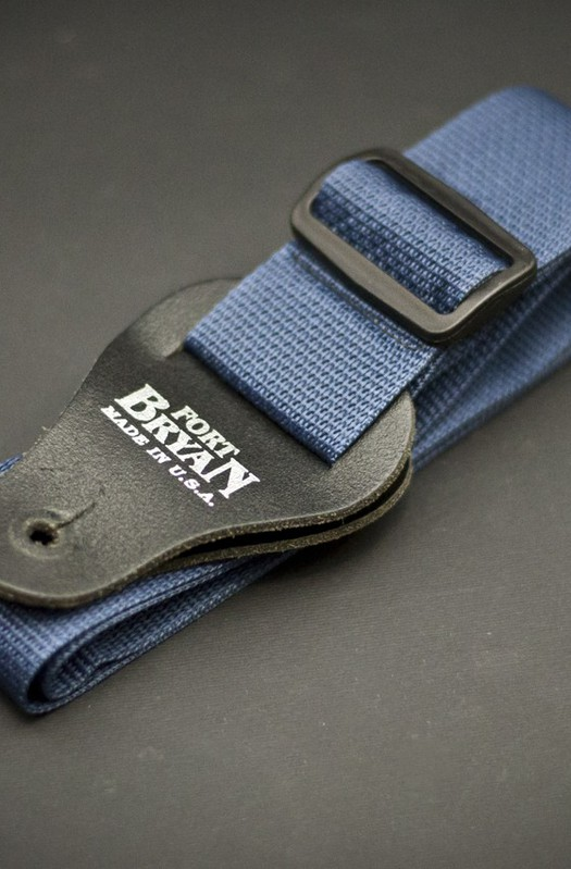 Fort Bryan Made In USA Blue Guitar Strap