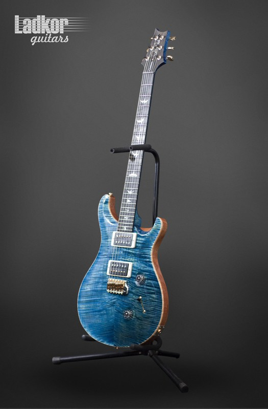 2017 PRS Custom 24 Artist Package River Blue Matching Stain Figured Maple Neck NEW