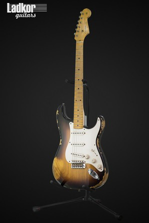 2012 Fender Custom Shop 56 Stratocaster Heavy Relic Two-Tone Vintage Tobacco Sunburst 1956 Reissue