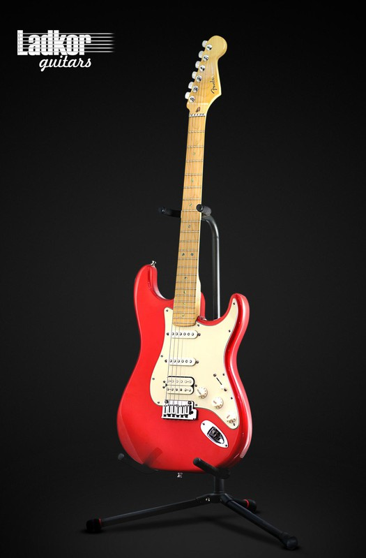 2002 Fender American Deluxe Stratocaster Fiesta Red HSS