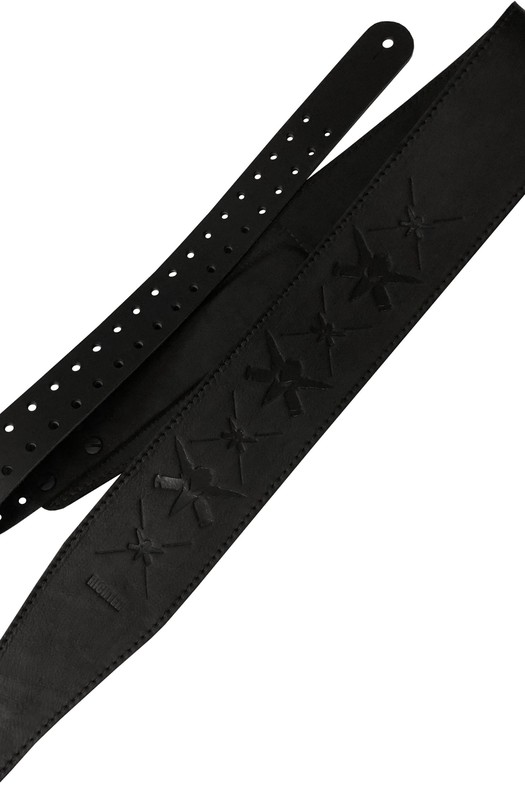 Ремень гитарный Richter WILL ADLER  GUITAR STRAP BLACK / BLACK 1505WA-B