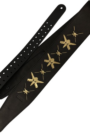 Ремень гитарный Richter WILL ADLER GUITAR STRAP BLACK / GOLD 1505WA-G