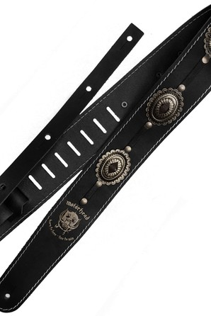 Ремень гитарный Richter MOTÖRHEAD GUITAR STRAP BLACK / OLD SILVER 1565