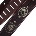 Ремень гитарный Richter Guitar MOTÖRHEAD  GUITAR STRAP BROWN / OLD SILVER 1567