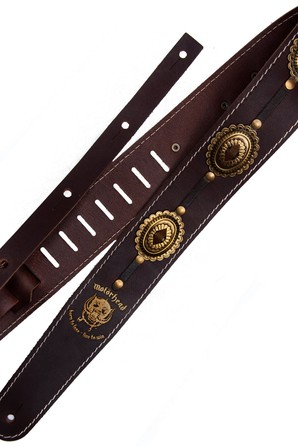 Ремень гитарный Richter MOTÖRHEAD GUITAR STRAP BROWN / OLD BRASS 1568