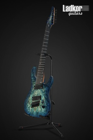 Legator NFOD8 Ninja Fanned Fret Multiscsale 8 String Blue Buckeye Burl Overdrive Series NEW