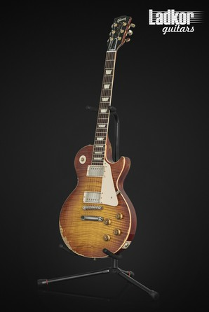 2013 Gibson Custom Shop Les Paul 1959 Reissue Standard 59 Heavy Aged Orange Burst Historic R9