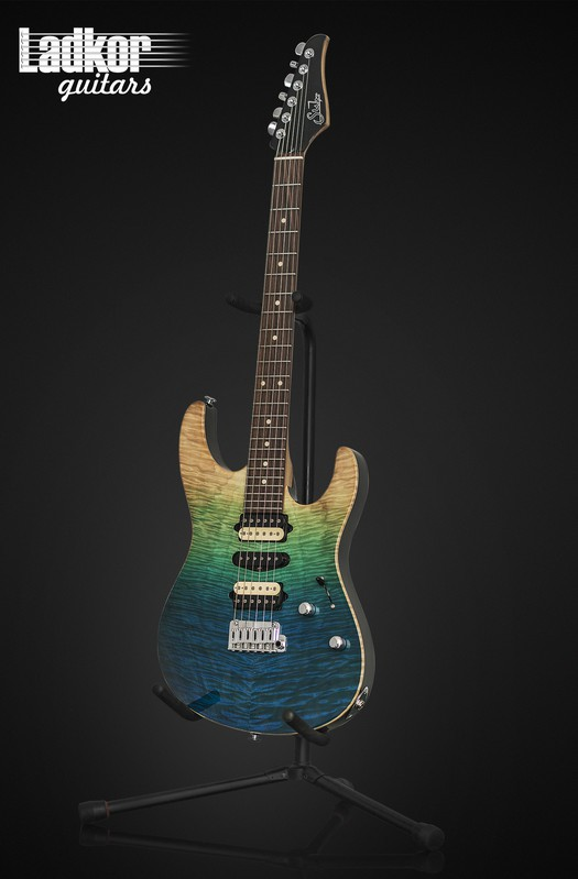 Suhr Modern Plus Custom Aqua Blue Gradient
