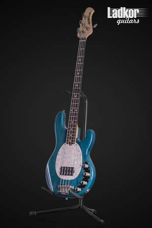 2000 Ernie Ball Music Man Stingray Translucent Teal Bass