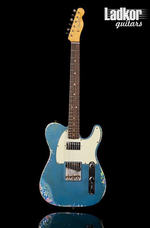 2017 Fender Custom Shop NAMM Ltd '60 Tele Relic Telecaster Limited Edition HS Aged Lake Placid Blue over Blue Flower NEW