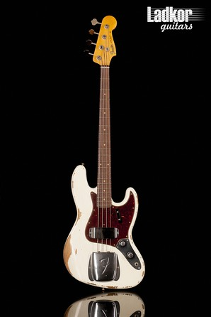 2019 Fender Custom Shop 1961 Jazz Bass Heavy Relic Olympic White NEW