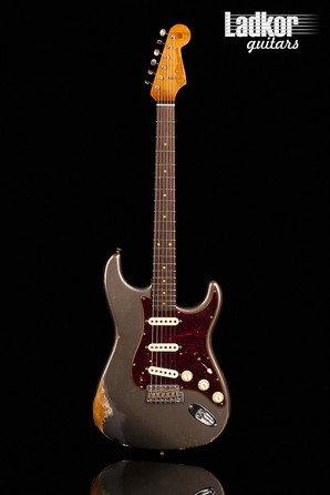 2019 Fender Custom Shop 1960 Roasted Relic Stratocaster Charcoal Frost Metallic NEW