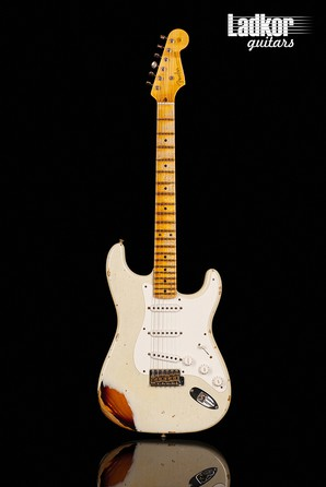 2017 Fender Custom Shop 1955 Stratocaster Heavy Relic 55 Desert Tan Over Chocolate 2-Color Sunburst NEW