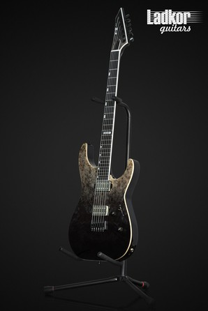 ESP E-II M-II NT Black Natural Fade Buckeye Burl Maple NEW