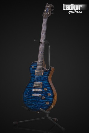 2015 PRS Private Stock SC245 Singlecut Aquamarine Smoked Burst Quilt Top Cocobolo Neck Brazilian FB
