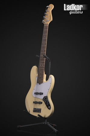 1996 Fender American Standard Jazz Bass V Olympic White 50th Anniversary