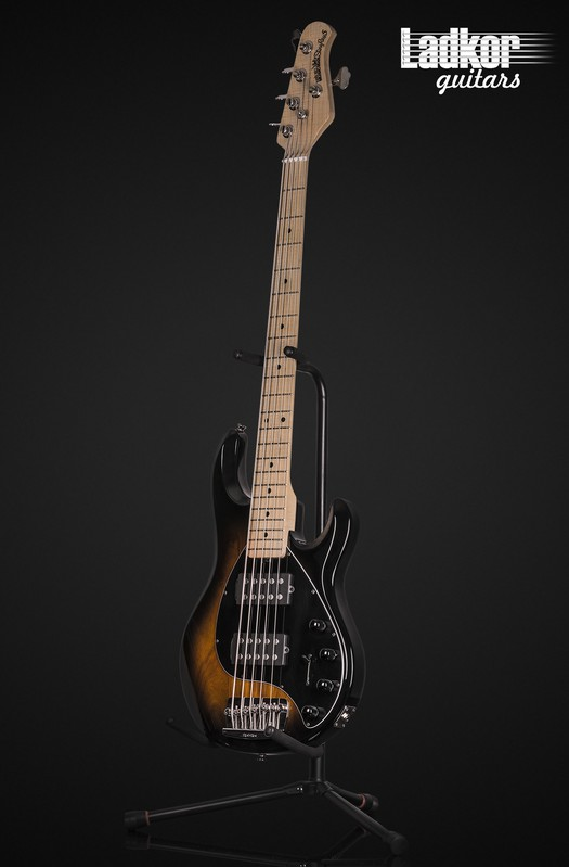 2014 Ernie Ball Music Man StingRay 5 HH Vintage Tobacco Burst V String Bass