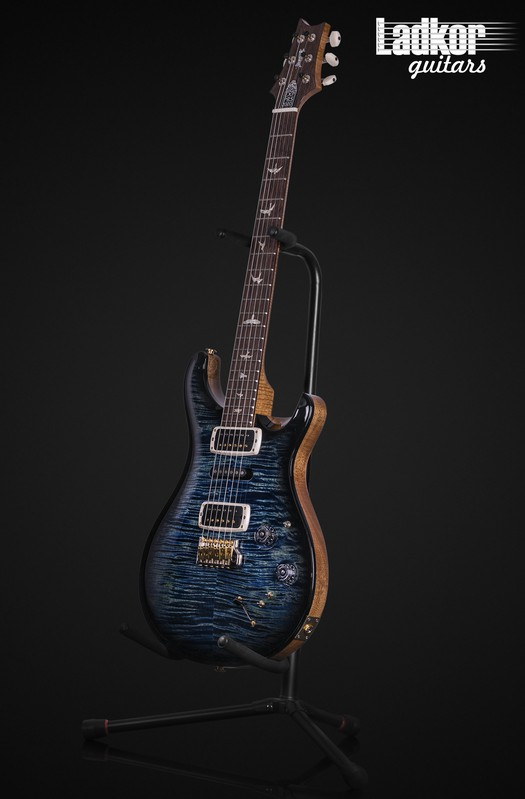 2020 PRS Experience Modern Eagle V 10 Top River Blue Smokewrap Burst Natural Back Custom Color One Off NEW