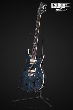 2020 PRS SE Custom 24 Poplar Burl Whale Blue Limited Edition NEW