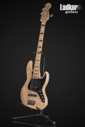 2017 Fender American Elite Jazz Bass V Natural 5 String Bass