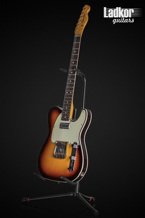 2017 Fender Custom Shop Masterbuilt Jason Smith 1963 Telecaster Custom Journeyman Relic Chocolate 3-Tone Sunburst C3TS MBJS 63 TV Jones