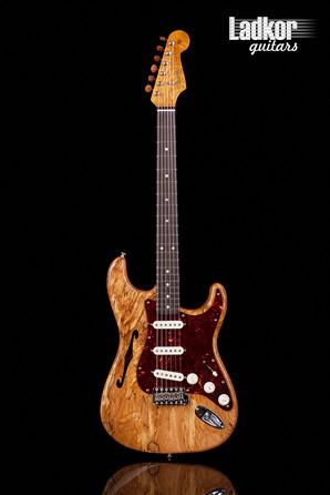 2020 Fender Custom Shop Artisan Spalted Strat Thinline Stratocaster Aged Natural NEW