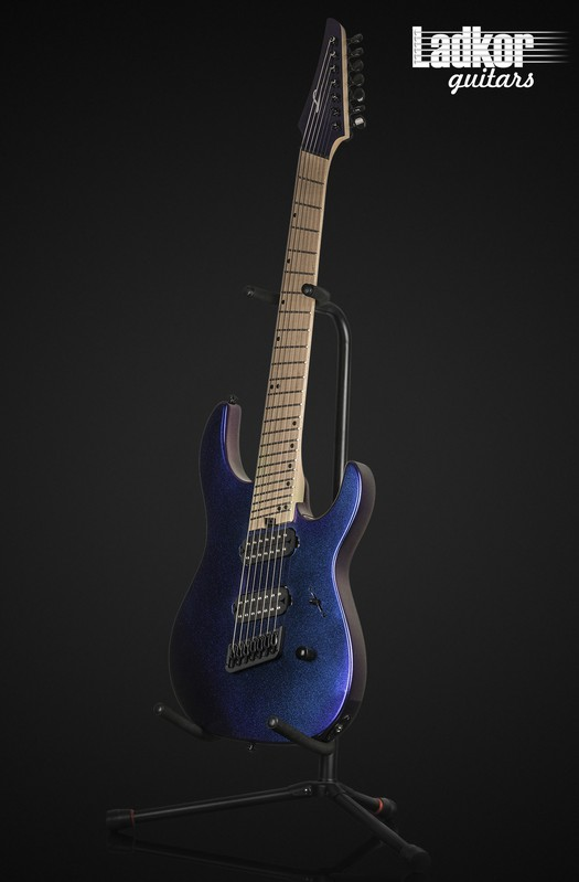 Legator N7FS Blue Purple Color Shift Fanned Fret Multi Scale 7 String Ninja S Series NEW