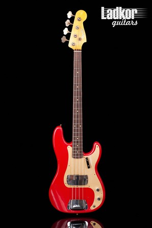 2021 Fender Custom Shop 1959 Precision Bass Journeyman Relic Aged Dakota Red NEW