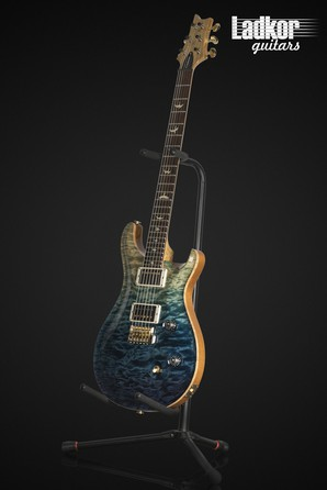 2013 PRS Custom 24 Wood Library Artist Package One Piece Quilt Top Blue Fade Brazilian Rosewood Korina